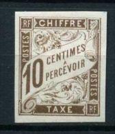 FRANCE COLONIES ( TAXE ) :  Y&T  N°  19  TIMBRE  NEUF  SANS  TRACE DE  CHARNIERE  ,  A  VOIR  .