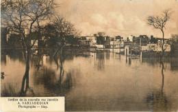alep - liban syrie - inondation du 6 f�vrier 1922 - jardins de la nouvelle rue inond�s