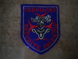 ECUSSON TISSU  CAMPS CARPIAGNE SECURITE INCENDIE