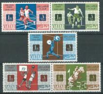 1966 Qatar Jeux Panarabes Du Caire Set MNH** P4 - Qatar