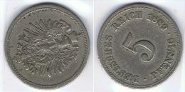 ALEMANIA DEUTSCHES REICH 5 PFENNIG A 1889 - 5 Pfennig