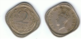 INDIA JORGE VI 2 ANNA 1939 - India