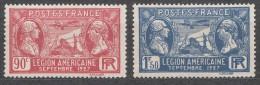 France 1927 Yvert#244-245 Mint Hinged (avec Charnieres)