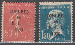 France 1930 Yvert#264-265 Mint Hinged (avec Charnieres)