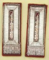 ITALIA - coppia mostrine ricamate filo metallico Carabinieri (anni 50 / AFIS / banditismo in Sicilia)