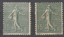 France 1903 Yvert#130 Two Colour Shades, Mint Hinged (avec Charnieres) - 1903-60 Sower - Ligned