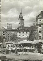 AK München Viktualienmarkt Cafe Neumayr Alter Peter 1961 Stempel Auslandsstelle #2321 - Muenchen