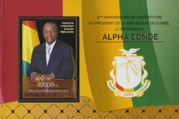 GUINEA REP. 2015 ** S/S 4th President Präsident Alpha Conde - OFFICIAL ISSUE -  A1521 - Célébrités