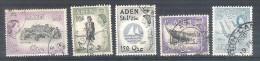 Lot Of 5 Used Stamps Great Britain Aden Yemen 1950´s - Aden (1854-1963)