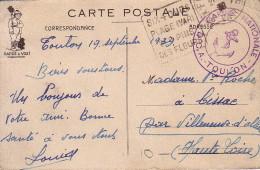 VAR - SIX FOURS - DAGUIN - SIX-FOURS / PLAGE (VAR) DES PINS / DES FLEURS - MARINE NATIONALE - D.C.A TOULON - CARTE FM. - Postmark Collection (Covers)