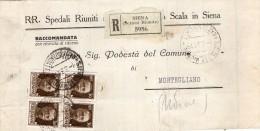 1931 LETTERA RACCOMANDATA CON ANNULLO SIENA - 1900-44 Vittorio Emanuele III