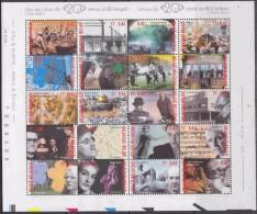 Belgium**20th CENTURY –SHEET 20stamps-2000-HIROSHIMA-CALLAS-MAGRITTE-BARTOK-MNH-VIETNAM-BRECHT - Belgium