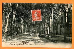 MDE-22  Oran, Boulevard Malakoff. Attelage . Cachet Frontal - Oran