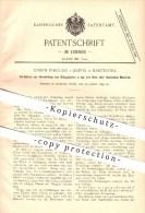 Original Patent - Joseph Fortuny Y Banús In Barcelona , 1899 , Belagplatten Aus Glas , Fliesen , Wandfliesen , Platten ! - Documentos Históricos