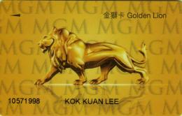 Macau Casino MGM Grand - Member Card - 2 scans - Macau - Macao