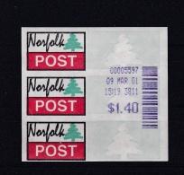 ATM: Norfolk Island 2001 Mi. 1.2f Mint/**  (G65-26) - Vignettes ATM - Frama