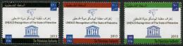 PALESTINE 2013 - UNESCO - 3 Val Neuf // Mnh - Palestina
