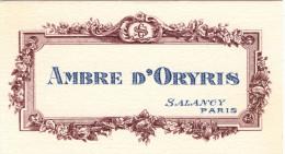 Carte Parfumée Marque SALANCY Ambre D'Oryris - Vintage (until 1960)