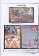 TURKMENISTAN 1997 BLOC 14A LES 95 ANS DE CADILLAC 13 /14HONG KONG RENDU A LA CHINE - Turkménistan