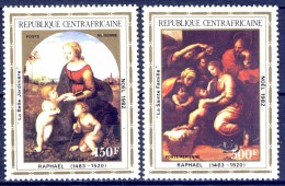 ##K1246. Republique Centafricain 1982. Christmas. Raphael. Paintings. Michel 903-04. MNH(**) - Central African Republic