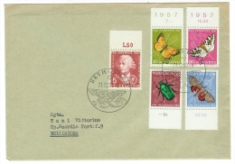 Suisse /Schweiz/Svizzera/Switzerland/Pro-Juventute //lettre Pour Bellinzona Du 21.12.1957 - Pro Juventute