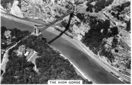 Cigarette Card - Britain From The Air Set. The Avon Gorge - No. 23 - Cigarettes