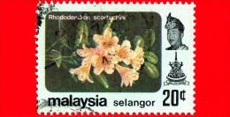 MALESIA - MALAYSIA - Usato - 1979 - Fiori - Flowers - Fleurs - Rododentro - Selangor - 20 - Malesia (1964-...)