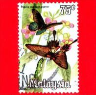 MALESIA - MALAYSIA - Usato - 1970 - Farfalla - Butterfly - Papilio Memnon - 75 - Malesia (1964-...)