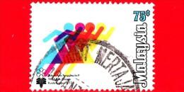 MALESIA - MALAYSIA - Usato - 1977 - Giochi A Kuala Lumpur - South-East Asian Games - 75 - Malesia (1964-...)