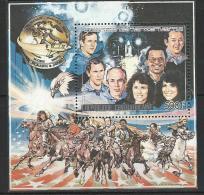 """Centrafrique Bloc YT 87 """" Hommage Aux Astronautes Challenger """" 1986 Neuf** - Centrafricaine (République)"""