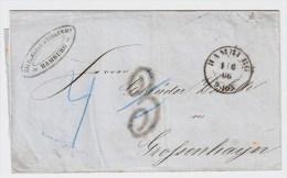 "Hamburg, 1866, Seltener Tax-Stp. "" 3 ""  # 1550 - Hamburg"