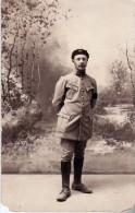 Rare Photo Carte D´un Soldat Du 81 ème  Avec Beret Et Lettres AS - 1914-18