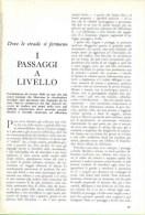 I PASSAGGI A LIVELLO 1962 ARTICOLO RITAGLIATO DA GIORNALE - Victorian Die-cuts