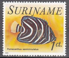 surinam    scott no  447   unused hinged     year  1976