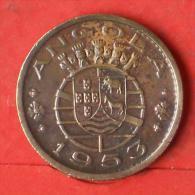 ANGOLA  50  CENTAVOS  1953   KM# 75  -    (Nº03271) - Angola
