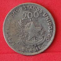 BRAZIL  200  REIS  1901   KM# 504  -    (Nº06826) - Brazilië