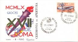 FDC CAPITOLIUM ROMA ´60 -  CERIMONIA DI APERTURA - Zomer 1960: Rome