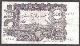 ALGERIA :  500 DINARS - 1970 - P129a - VF - SN A005 25462 - Algeria