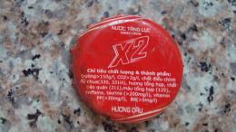 Vietnam Viet nam Coca Cola X2 energy drink used bottle crown cap / kronkorken / chapa / tappi
