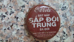 Vietnam Viet nam Coca Cola BAT NAP SAP DOI used bottle crown cap / kronkorken / chapa / tappi