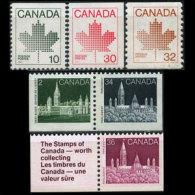 CANADA 1982 - Scott# 944-8 Maple Etc. 10-36c MNH - 1952-.... Reign Of Elizabeth II