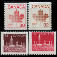 CANADA 1982 - Scott# 950-3 Maple Etc.Coil Set Of 4 MNH - 1952-.... Reign Of Elizabeth II
