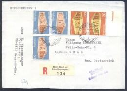 Switzerland Suisse Schweiz 1969 Registered Einschreiben Cover (front Page Only): Europa Cept; Zoll-frei Stempel - Suisse