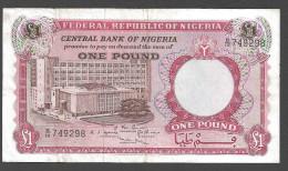 NIGERIA  : 1 Pound - 1967 - P8 - XF - Nigeria