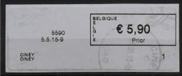 België 2015 Ciney 5590 - Logo Bpost - Prior Klein - Cijfer 1 (fragment) - Automatenmarken (ATM)