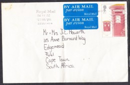 Great Britain,  2002 Stamp Anniversary, Pillar Box, 47p On Air Mail Cover To South Africa - 1952-.... (Elizabeth II)