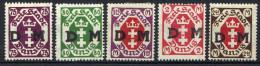 Danzig 1922 Dienstmarken Mi 15-19 * [240515XII] - Danzig