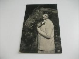 CAVALLO HORSE CON DONNA  CAVALLO PRIMO PIANO - Pferde