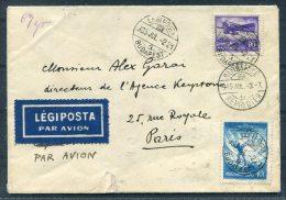 1935 Hungary Budapest Airmail Cover - Keystone Press Agency , Rue Royale, Paris, France