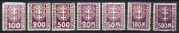 Danzig Portomarken 1923 Mi 15-16; 19; 22-25 * [240515XII] - Danzig